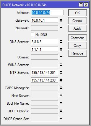 DHCP network